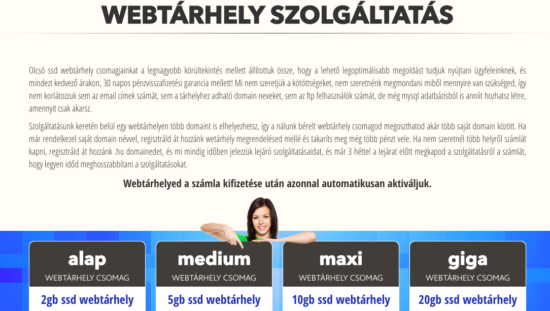 webtárhely